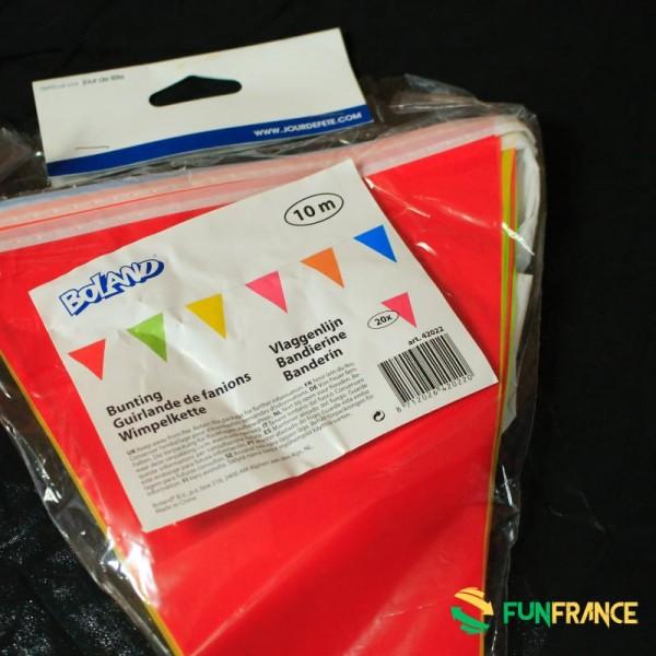 FUNFRANCE - E-Commerce Français : Banderole multicolor 10M - 3.208333€/ht - Banderole multicolor 10M. 20fanions de 29cm.