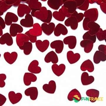 FUNFRANCE - E-Commerce Français : Paillette décoration de table coeur rouge - 1.166667€/ht - Paillettes décoration de table coeu