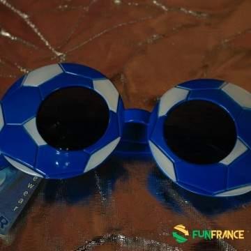 Lunettes de fête football bleu