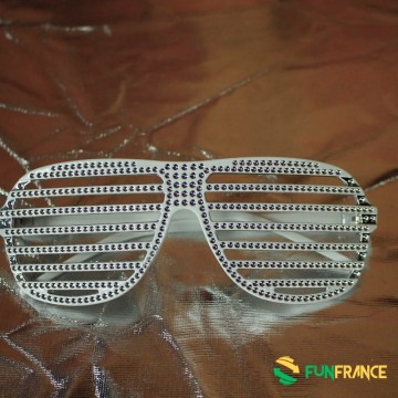 FUNFRANCE - E-Commerce Français : Lunettes strass à barreau - 2.041667€/ht - Lunettes plastiqueavec barreaux de couleur sans ve