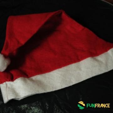 FUNFRANCE - E-Commerce Français : Bonnet de Noël standard - 0.433333€/ht - Bonnet de Noël premier prix. Tour de tête 30cm / Haut