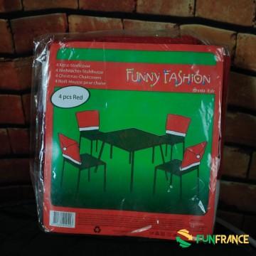 FUNFRANCE - E-Commerce Français : House de chaises Noël - 1.5€/ht - Housse de chaise Noël en feutrine épaisse avec un pompon. Di