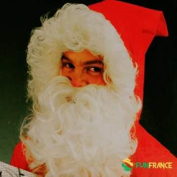 FUNFRANCE - E-Commerce Français : Barbe blanche père Noël LUXE - 19.875€/ht - Barbe blanche père Noël LUXE. Livré en carton de p