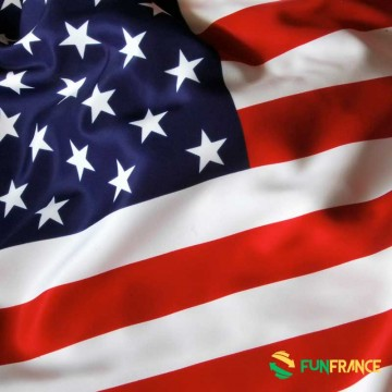 FUNFRANCE - E-Commerce Français : Drapeau U.S.A 90x150cm - 4.125€/ht - Drapeau U.S.A. Matière 100% polyester. Dimensions largeur