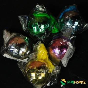 FUNFRANCE - E-Commerce Français : Boule à facettes 4cm avec tour du cou - 0.708333€/ht - Collier corde avec pendentif boule à fa