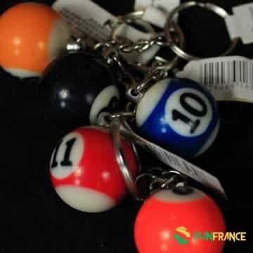 FUNFRANCE - E-Commerce Français : Boule de billard porte clef 2cm - 0.208333€/ht - Boule de billard miniature (2cm) avec boucle