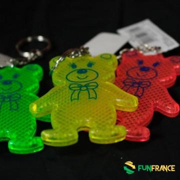 FUNFRANCE - E-Commerce Français : Porte clef nounours catadioptre 7 cm - 0.716667€/ht - Porte clef nounours catadioptre 7 cm