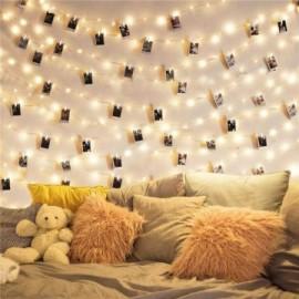 Guirlande lumineuse à Clip pour photos piles ou USB ( 2m/5m/10m)