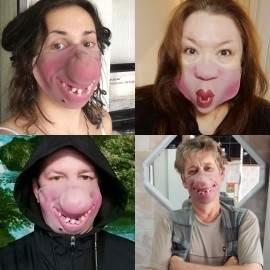 Masque facial de fête en latex (Plusieurs modèles)