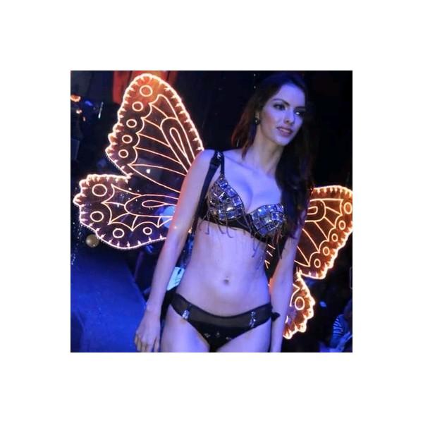 FUNFRANCE - E-Commerce Français : Ailes d'ange lumineuses à led légers pour spectacle sur scène ou boîte de nuit et bar - 217.32