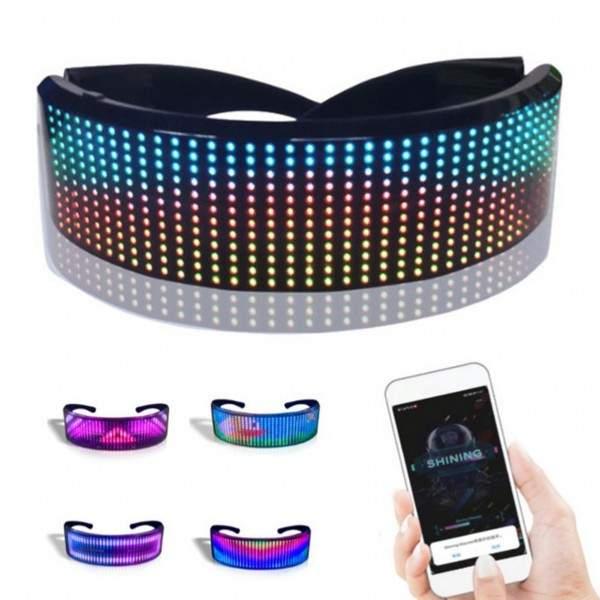 FUNFRANCE - E-Commerce Français : Lunettes à LED Bluetooth pilotage par téléphone Android - 45.804€/ht - Lunettes à LED Bluetoot