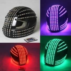 Casque à LED RGB à télécommande. Robot performer Show