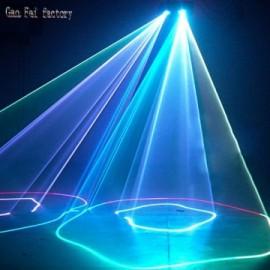 Laser 2 lentilles RVBW DMX 512