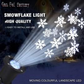 Projecteur neige de Noël à Led 10w RGBW ou Blanc