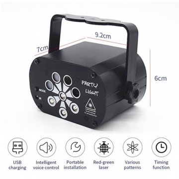 Mini projecteur laser/UV rechargeable ou USB