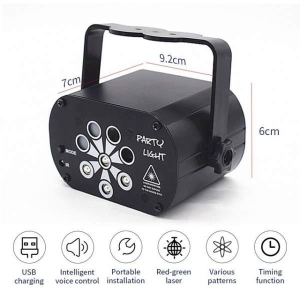 Mini projecteur laser/UV rechargeable ou USB