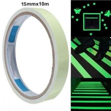 Adhésif fluorescent lumineux 10m (3 Largeurs)