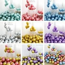Lot de 50 ballons 25cm (Nombreuses couleurs)