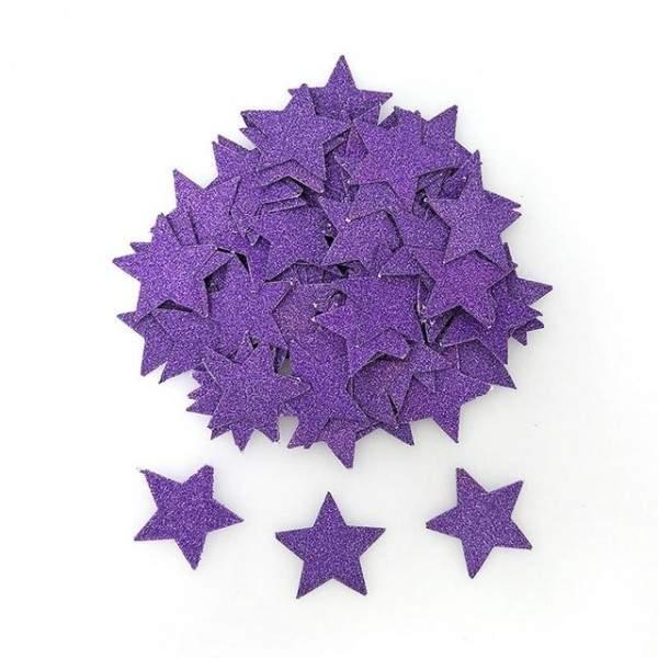 FUNFRANCE - E-Commerce Français : Confettis étoile 3cm en papier paillettes - 3.47€/ht - Confettis étoile 3cm en papier paillett