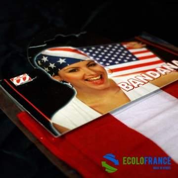 FUNFRANCE - E-Commerce Français : Bandana USA (Taille unique) - 2.458333€/ht - Bandana USA (Taille unique). Arborez les couleurs
