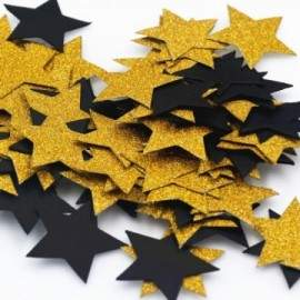Confettis étoile 3cm en papier paillettes