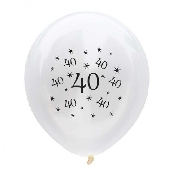 FUNFRANCE - E-Commerce Français : 10 x ballons d'anniversaire 30 40 50 60 70 80 ans (30cm) - 1.86€/ht - Lot de 10 ballons d'anni