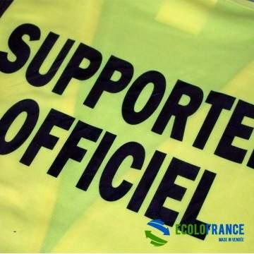 FUNFRANCE - E-Commerce Français : T-Shirt FLUO de supporter officiel - 6.658333€/ht - T-Shirt humour FLUO imprimé. Taille unique