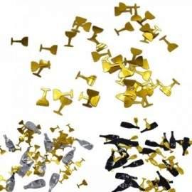 Confettis de tables Bouteilles et/ou Verres (15g)