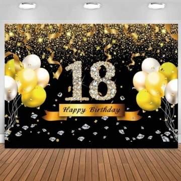 FUNFRANCE - E-Commerce Français : Affiche Photocall anniversaire 1,5M ou 1m80M (18, 21, 30ans au choix) - 7.69€/ht - Affiche Pho