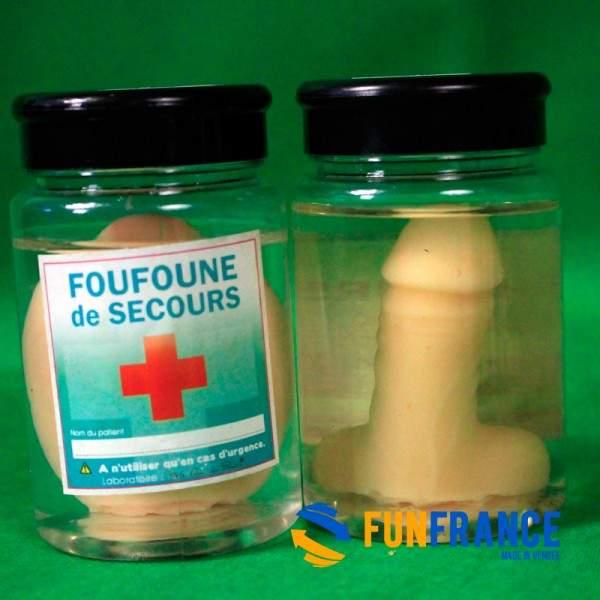 FUNFRANCE - E-Commerce Français : Zizi de secours en bocal - 5.75€/ht - En cas d'urgence uniquement.Zizi de secours en bocal. M