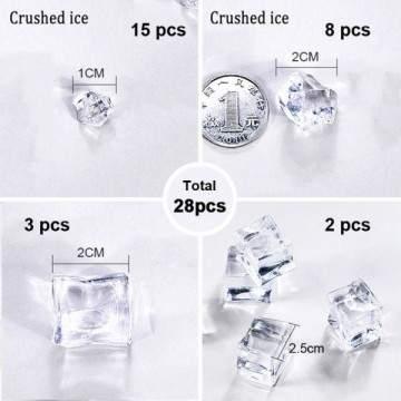 FUNFRANCE - E-Commerce Français : 28 x glaçons artificielles transparents - 4.2€/ht - Lot de28 glaçons artificielles transparen