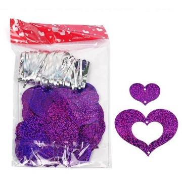 FUNFRANCE - E-Commerce Français : Coeurs à suspendre (100 pièces) avec attaches - 2.22€/ht - 100 coeurs à suspendre rn carton im