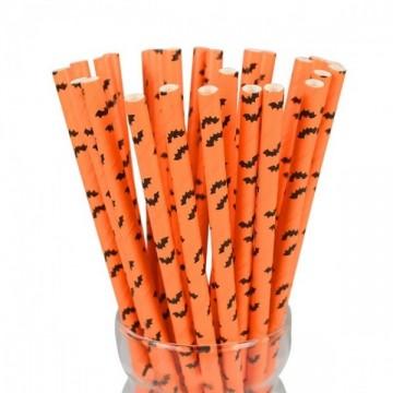 FUNFRANCE - E-Commerce Français : 25 pailles jetables spécial Halloween ou Noël en papier - 2.27€/ht - 25 pailles jetables spéci
