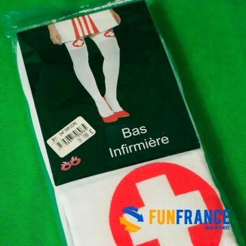 """FUNFRANCE - E-Commerce Français : Paire de bas """"infirmière"""" - 3.083333€/ht - Paire de bas """"Infirmière"""" - Le must pour se déguise"""