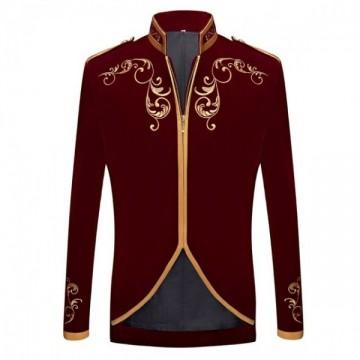 FUNFRANCE - E-Commerce Français : Veste velours brodée style prince - 50.06€/ht - Superbe veste velours brodée pour vos fêtes de