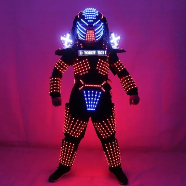 FUNFRANCE - E-Commerce Français : Robot LED complet à LED (4 pièces) - 686.04€/ht - Costume robot LEDpour spectacle de rue ou d