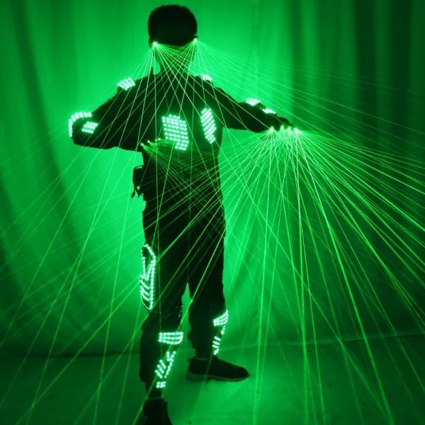 FUNFRANCE - E-Commerce Français : Robot laser 4 pièces Laser & LED pour spectacles - 374.66€/ht - Gilet à Laser vert complet pou