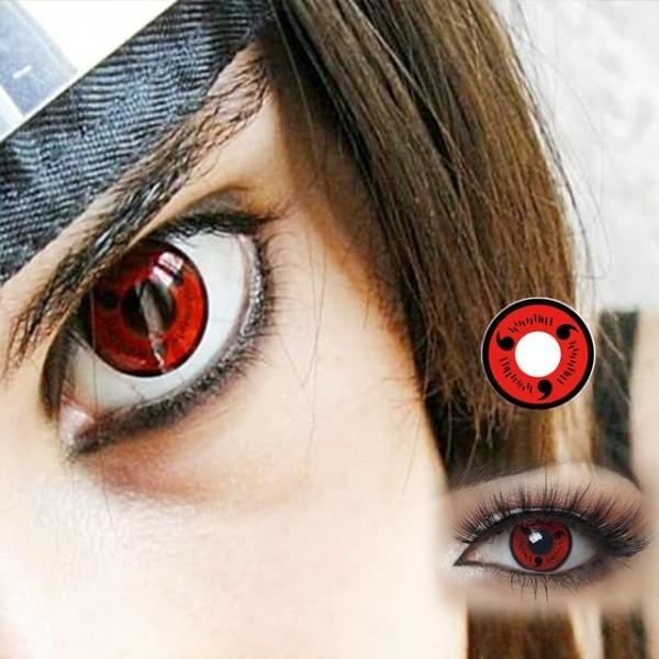 FUNFRANCE - E-Commerce Français : Lentilles HIDROCOR® Naruto Sharingan Cosplay - 3.73€/ht - Lentilles HIDROCOR® Naruto Sharingan