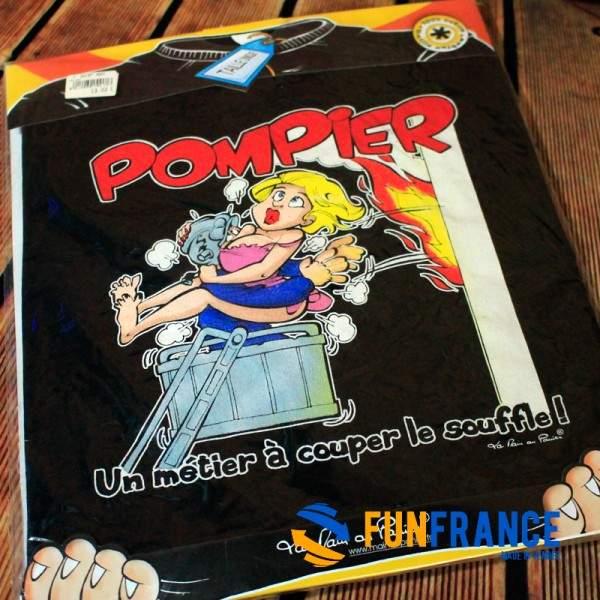 FUNFRANCE - E-Commerce Français : T-shirt humour POMPIER - 11.583333€/ht - T-Shirt pompier, un métier à couper le souffle. Motif