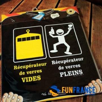 """FUNFRANCE - E-Commerce Français : T-shirt humour """"Récupérateur"""" - 11.583333€/ht - Le t-shirt des récupérateur de verres pleins e"""