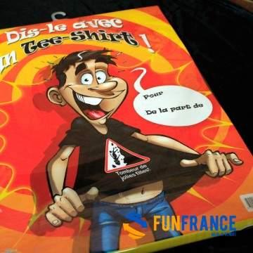 FUNFRANCE - E-Commerce Français : T-shirt message à personnaliser - 11.583333€/ht - T-shirt à personnaliser. Ecrivez le message