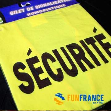 T-shirt humour fluo SECURITE