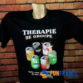 T-shirt humour Thérapie de Groupe