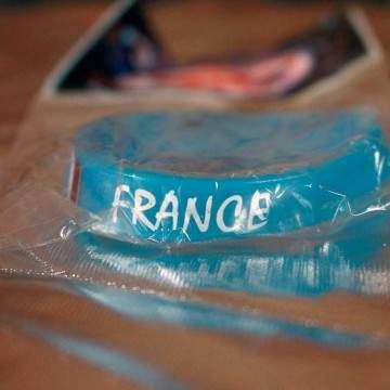 FUNFRANCE - E-Commerce Français : Bracelet silicone FRANCE - 1.26€/ht - Bracelet silicone FRANCE. Impression blanche. Pour homme