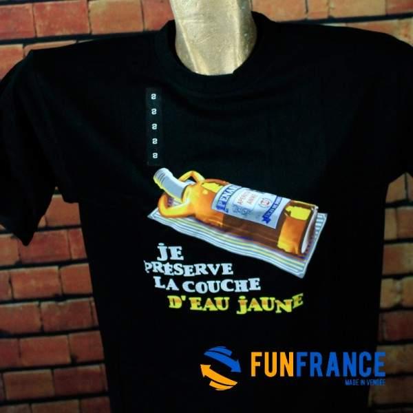 """FUNFRANCE - E-Commerce Français : T-shirt humour """"Je préserve la couche d'eau jaune"""" - 13.25€/ht - T-shirt haute qualité """"Je pré"""