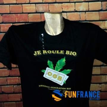 """FUNFRANCE - E-Commerce Français : T-shirt humour """"JE ROULE BIO"""" - 13.25€/ht - T-shirt humour de qualité """"Je roule bio"""". Original"""