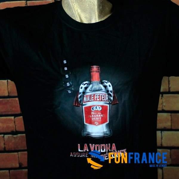 """FUNFRANCE - E-Commerce Français : T-shirt humour """"La vodka assure ma défonce"""" - 11.583333€/ht - T-shirt La vodka assure ma défon"""