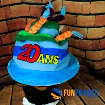 FUNFRANCE - E-Commerce Français : Chapeau anniversaire 20 ans - 6.208333€/ht - Chapeau anniversaire20 ans. Fêtez vos20 ans en
