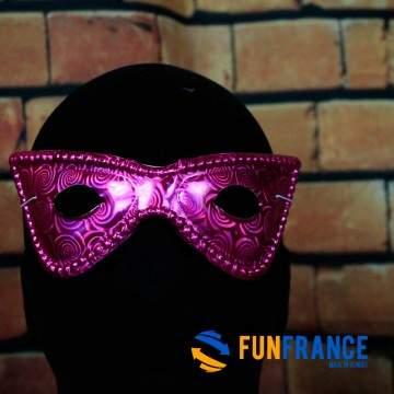 FUNFRANCE - E-Commerce Français : Masque loup carnaval violet - 1.233333€/ht - Masque loup PVC rigideviolet brillant avec élast