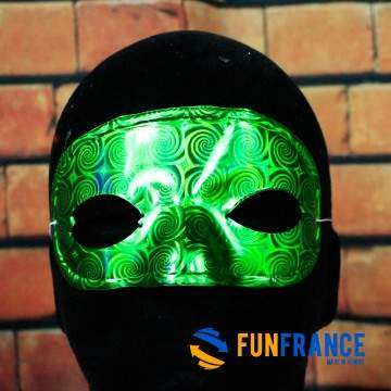 FUNFRANCE - E-Commerce Français : Masque loup carnaval léger couleur brillant - 0.933333€/ht - Masque loup PVC rigide avec élast